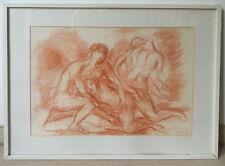 """Manfred Henninger, """"Ballett-Studie"""", 1971, Rötel-Zeichnung"""