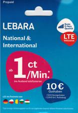 10 GB Lebara mobile Simkarte 1 Monat Inklusive