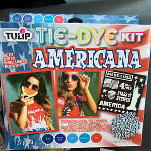Tulip Tie Dye KIT Americana Red Blue Light Fourth July Turquoise 40720 Iron On