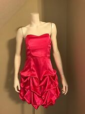 Ruby Rox Sz 9 Junior Strapless Hot Pink Layered Drape Bubble Party Prom Dress
