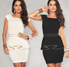 Mini Synthetic Dresses for Women with Cap Sleeve