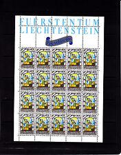 Liechtenstein Noel Multicolores 50 r   feuille 20 TP n° 805