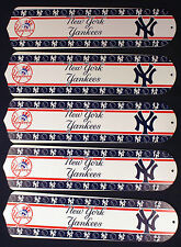 """New MLB NEW YORK YANKEES 52"""" Ceiling Fan BLADES ONLY"""