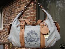 Juicy Couture EQUESTRIAN Toile WEEKENDER Tote Large Duffle Bag Duffel Bag