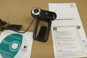 Logitech QuickCam Pro 9000  (very used, tested, works well) + disc and manuals