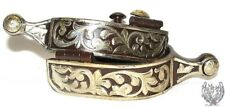 -western-ball-end-spurs-brown-iron-and-silver-floral-mens-or-womens