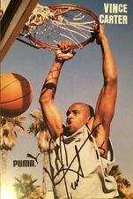 Vince Carter Toronto Raptors Basketball Autographed Inscribed #15 Photo