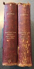 Antique Books - Ruskin, Selections Of Writings First & Second Series 1843 - 1888