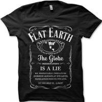 Flat Earth, Earth is FLAT, Firmament, NASA Conspiracy Globe Lie t-shirt 9106