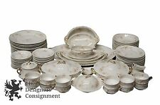 87 Piece Theodore Haviland Limoge Pink Rose China 12 Place Dinner Setting France
