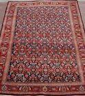"Antique Kurdish Bijarr Herati Hand-Knotted Wool Oriental Rug Cleaned 4'8"" x 7'"