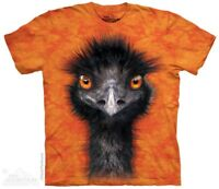 Emu T-Shirt by The Mountain. Big Face Flightless Bird Sizes S-5XL NEW