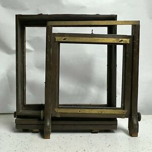 ANTIQUE 8X10 WOODEN CAMERA FRONT & REAR STANDARD Large Format for Parts w/ BRASS