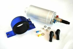 300lph INLINE EXTERNAL EFI FUEL PUMP 044 + Bracket