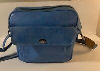 Vintage Samsonite Silhouette Powder Blue Travel Shoulder Bag Carry On
