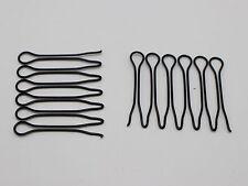 20 Pcs Black Fringe Invisible Hair Clip Comb Hairpin Bobby Pin Headband 3CM