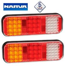 Narva LED Rear Stop Tail Indicator Reverse Tail Light (PAIR) with Cable 5YR WTY