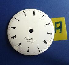 Taschenuhr Zifferblatt Emaille / verge pocket watch DIAL /+für Spindeltaschenuhr