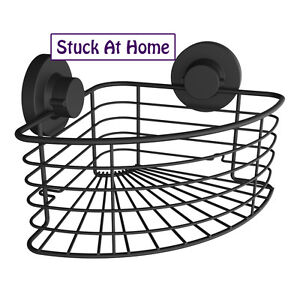 Naleon Black Shower Caddy Corner Basket - Storage Shower Removable Instaloc