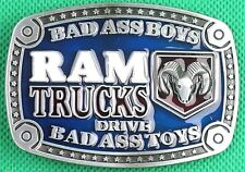 "Belt Buckle ""RAM TRUCKS"" 3.8cm Wide Belt, DIY, Custom, Metal Casting."