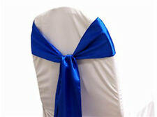 125 Satin Chair Sash Bow Sashes Bows Band Tie Wedding Banquet Party decoration