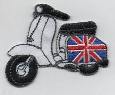 Union Jack Scooter Iron on Patch Vespa Lambretta Northern Soul Mod