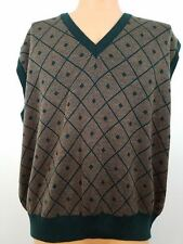 Vtg Golf Gentlemen's Sweater Vest XL XLarge Merino Wool Made in Italy Lahinch