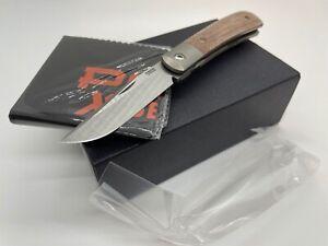 Pena X-Series Trapper Front Flipper Folding Knife Brown Micarta M390 - NEW!