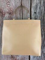 Lamarthe France leather tote handbag Clear lucite handles