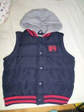 M&S Boys Navy Mix Puffer Gilet Size 5-6 Years