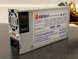 BRAND NEW--Hercules 600w-MAX (FLEX) ATX Power Supply 20+4pin SATA & PCIe