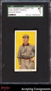 1909-11 T206 #222 Harry Howell PIEDMONT Hand at Waist SGC 3 Very Good