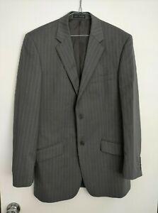 Studio Italia Super 100's Grey Suit Jacket Size 100R + 2 Pairs Suit Trousers
