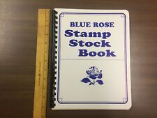 "G&K Blue Rose Manila Stamp Stock Book # Mn-711 (8"" x 11"") 10 Pages"
