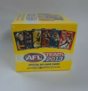 AFL Team 2013 Official Game Cards TEAMCOACH Full Box - 36 Packs Factory Sealed