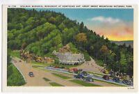 Postcard Linen NC&TN St Line Newfound Gap Spelman Monument Great Smoky Mts - C21