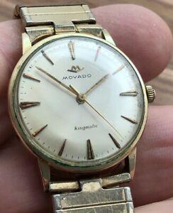 Vintage MOVADO Kingmatic Automatic Original Bracelet Original Dial Gold Filled