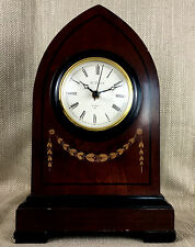 Luxury Mantle Clock Wooden Victorian Gothic Antique Style