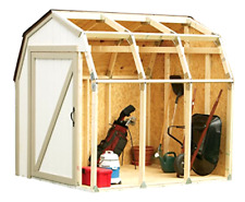 Storage Shed Outdoor Garden Tool Home Backyard Lawn Barn Style Roof White New