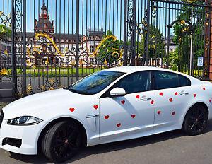 Auswahlangebot! Magnetfolie Herz Hochzeitsschmuck Rot - Weiß - Schwarz Auto Deko