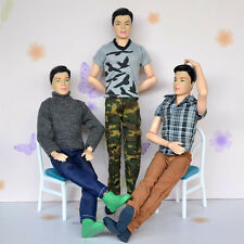 6 Pcs Casual Clothes Fashion 2 T-shirt 1 Sweater 3 Pants Set for Barbie Ken Doll