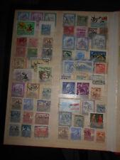 Album - Seite mit alten Briefmarken Österreich