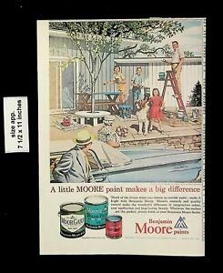 1961 Benjamin Moor Paints Home Outdoors Vintage Print Ad 21409