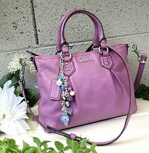 Coach 20342 Ashley leather mini tote satchel Purse handbag PURPLE wisteria bag