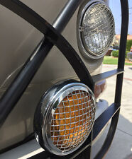 Spot light Amber with vintage mesh grille light sign for Porsche VW AAC152