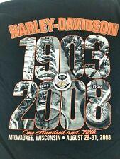 Harley Davidson Men's 105 Year's Milwaukee Wisconsin Large Shirt