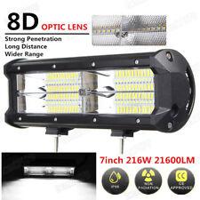 7inch 216W 21600LM 8D LED Flood Work Lamp Car SUV Off Road Fog Driving Light 1PC