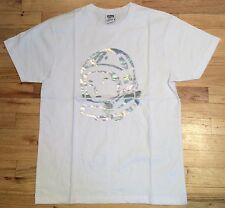 NEW BBC Billionaire Boys Club White Silver S/S Short Sleeve T-Shirt size Large L