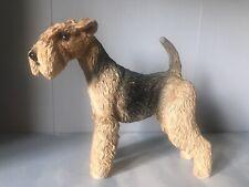 More details for leonardo dog figure figurine ornament lakeland terrier welsh airedale tan black