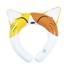 INFLATABLE CAT KITTEN EARS HEADBAND - KIDS ANIMAL PET BLOW UP FANCY DRESS PARTY